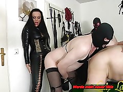 Anal BDSM dear one belt on touching german domina together with bisex sklaves
