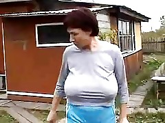 Grandmas Heavy Saggy Boobs