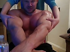 Str8 mortality real gets his pecs oiled