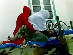 Ugly Kurdish Arab Hostel girls having recreation