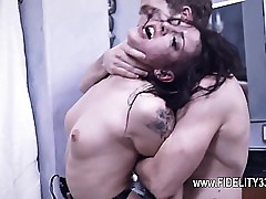 Shaved breasty pussy fucked
