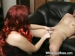 Redhead femdom plateau hush up domestic servant tortures a filial